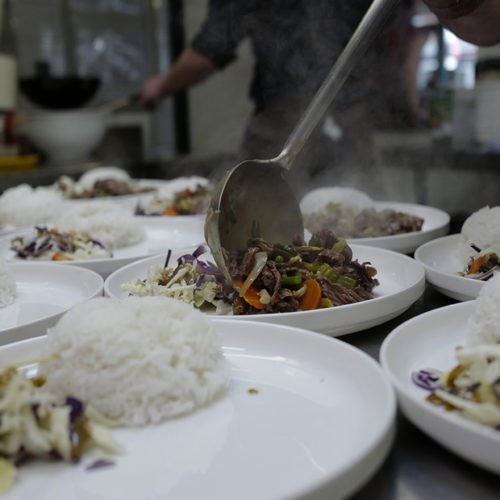 Photo de la cuisine servie à l'espace travail Le Centre Affaire pour des réunion, séminaire, formations ou after work à Saint Nazaire.